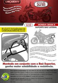 Suporte Baú Lateral Honda Cb500 X Scam 3