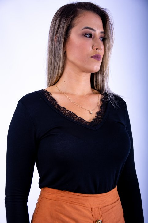 BLUSA FEMININA ART FASHION RENDA