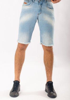 Imagem - Bermuda Masculina Max Denim Jeans Rasgada
