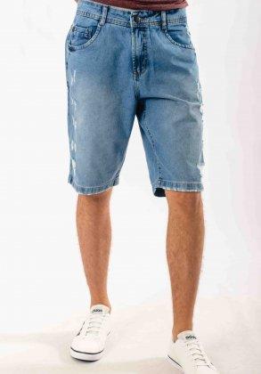 Imagem - Bermuda Masculina Voox Jeans Rasgada