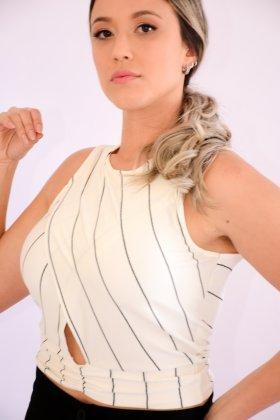 Imagem - BLUSA FEMININA ROVITEX MANGA CURTA CROPPED