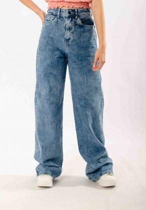 Imagem - Calça Feminina Disparate Jeans Wide Leg