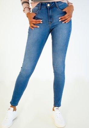 Imagem - Calça Feminina Flor De Lis Jeans