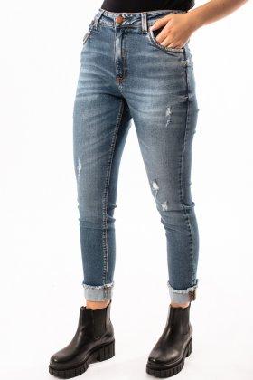 Imagem - Calça Feminina Flor de Lis Mom Jeans