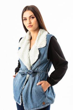 Imagem - Colete Feminino Super Sul Jeans Forrado