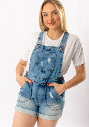 Imagem - Jardineira Feminina Voox Jeans