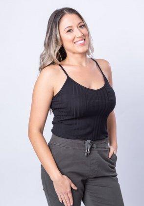 Imagem - REGATA FEMININA ROVITEX BÁSICA CANELADA