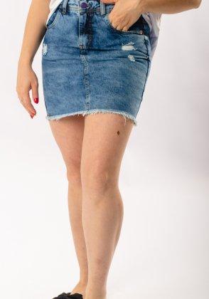 Imagem - Saia Feminina Disparate Jeans