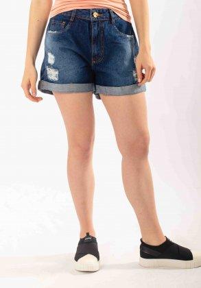 Imagem - Shorts Feminino Voox Jeans Meia Coxa