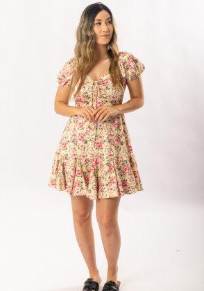 Imagem - Vestido Feminino Gabip Curto Floral