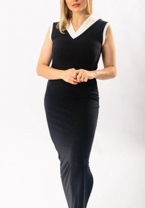 Imagem - Vestido Feminino Gabip Midi Canelado