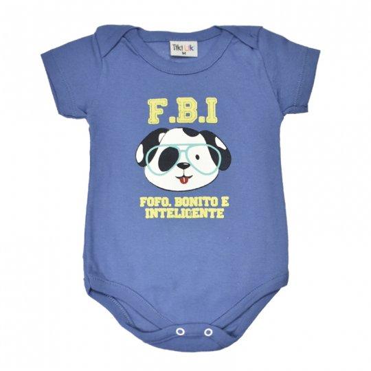 Body Tikiliki Manga Curta Cachorrinho FBI