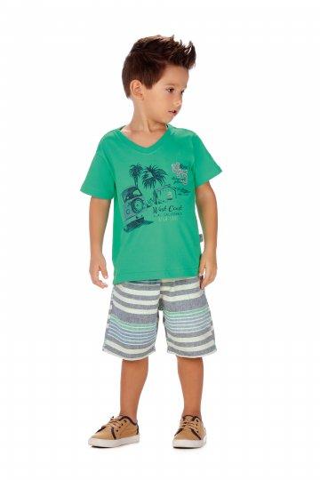 Conjunto Camiseta com Bermuda Menino