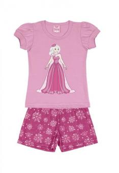 Pijama Blusa Com Short Menina
