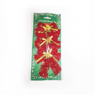 Imagem - Laço Vermelho e dourado de Natal cód: 688