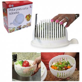 Imagem - Pote de PlásticoPara Cortar/Fatiar Saladas  cód: 680