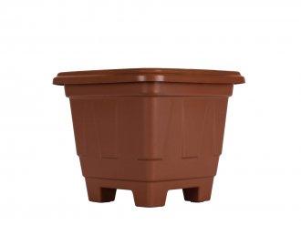 Imagem - Vaso quadrado Terracota marrom Nº 0 plasmarc