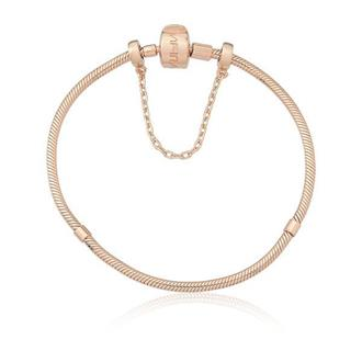 Imagem - Pulseira em Prata com banho Rosé 18 cm