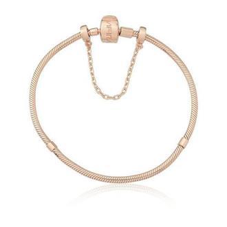 Imagem - Pulseira em Prata com Banho Rosé 20cm