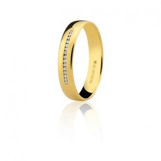 Imagem - Aliança Em Ouro 18k Com 6 Pontos de Diamante