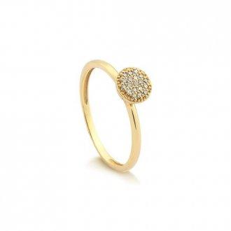 Imagem - Anel Em Ouro 18k Com 17 Pontos de Diamante