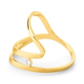 Imagem - Anel Em Ouro 18k Com Diamante