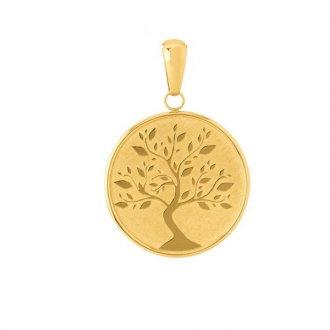 Imagem - Pingente Mandala Árvore da Vida em ouro 18k