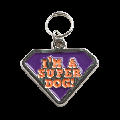 PINGENTE EM METAL - SUPER DOG