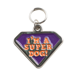 Imagem - PINGENTE EM METAL - SUPER DOG - PIN009.SUPER.ZNIQ