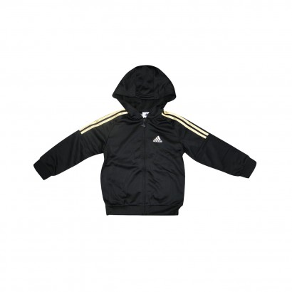 98e67db2c31 Agasalho Adidas IST Shiny Infantil AK2603 - Preto Dourado - Chuteira Nike