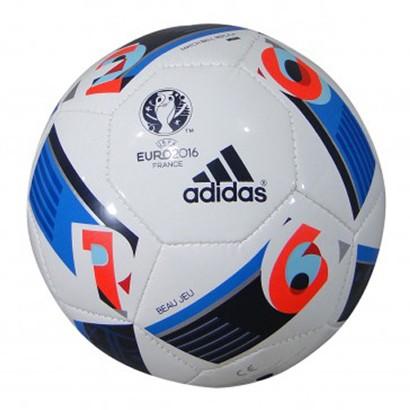 c692842b9f80e Bola Adidas Euro 2016 Futsal AC5432 - Branco Azul - Chuteira Nike ...