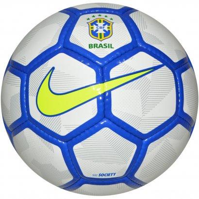 331c49e922d3d Bola Nike Society CBF SC3212 117 - Branco azul limão - Chuteira Nike ...
