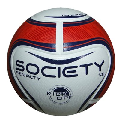 Bola Penalty S11 Society Kick Off 5401671640 - Branco Vermelho Azul ... 4e17f782e605e