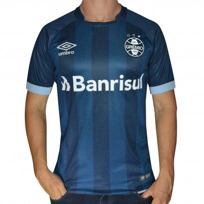 Camisa Gremio Umbro 2017 18 n° 7 785048 - Marinho azul - Chuteira Nike 7bf0c07f23c11