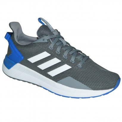 68a949e808 Tenis Adidas Questar Ride DB1344 - Grafite/azul/branco - Chuteira Nike,  Adidas. Sandalias Femininas. Sandy Calçados
