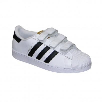 213f80b4aeb Tenis Adidas Star Infantil B26070 - Branco Preto - Chuteira Nike ...
