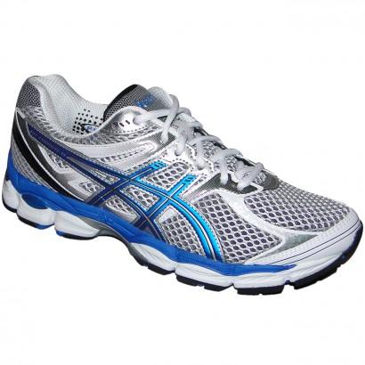 e9180967ddb Tenis Asics Gel-Cumulus 14 T246N N-9347 - Cinza Branco Azul - Chuteira  Nike