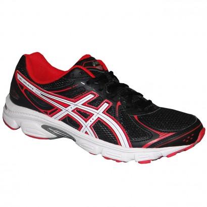 7436c740f59a7 Tenis Asics Gel-Galaxy 6 T332N 9001 - Preto Branco Vermelho - Chuteira  Nike