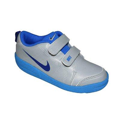 1d371cbbf1c Tenis Nike Pico Lt Infantil 619042 017 - Cinza Azul - Chuteira Nike ...