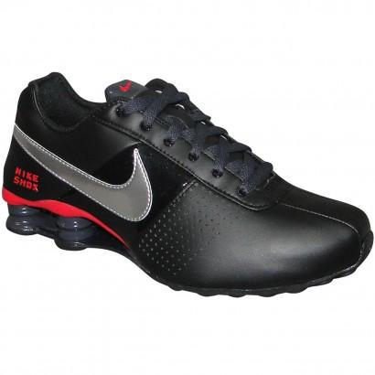 best service fbec5 c320e Tenis Nike Shox Deliver 317547 013 - Preto Prata Vermelho - Chuteira Nike,  Adidas. Sandalias Femininas. Sandy Calçados