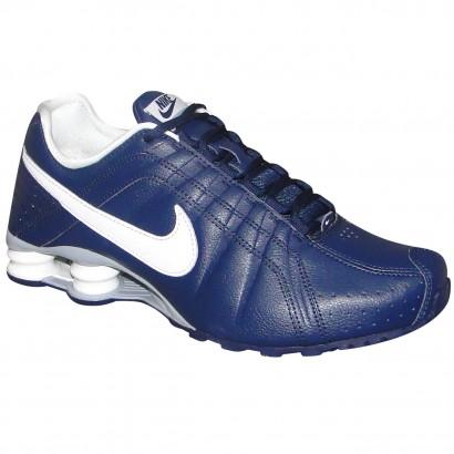 a379aa9f85 Tenis Nike Shox Junior 454340 402 - Marinho Branco - Chuteira Nike ...