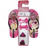 Chinelo Barbie Troca Aplique 25786 Infantil