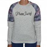 Moletom Free Surf Folk Feminino