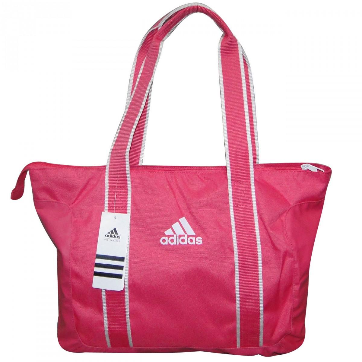 1118fcd66 Bolsa Adidas W C Ess Shoulder Z31418 - Rosa/Branco - Chuteira Nike, Adidas.  Sandalias Femininas. Sandy Calçados