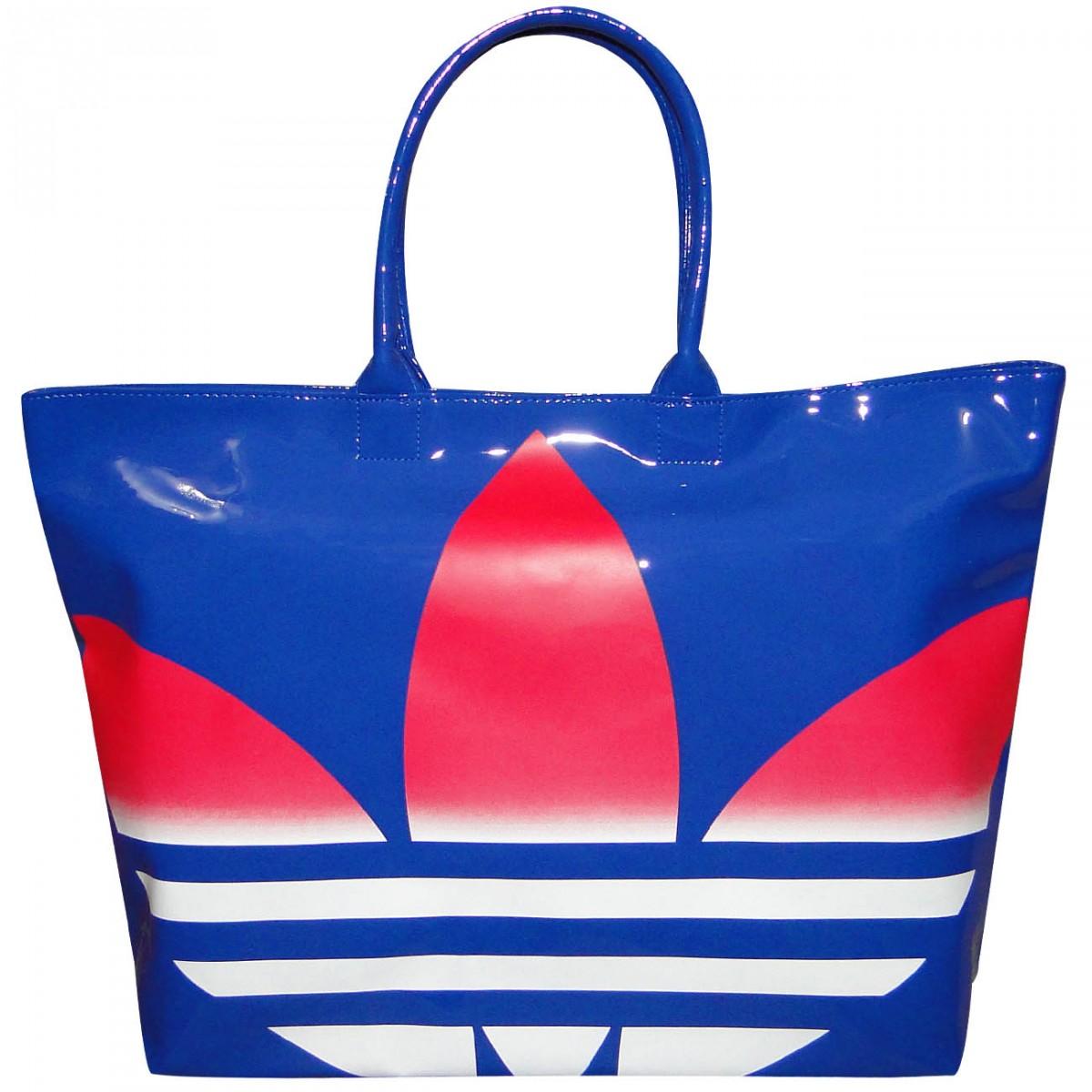 cb4275f55 Bolsa Adidas Beach Sh Pat F79450 - Azul/Branco - Chuteira Nike, Adidas.  Sandalias Femininas. Sandy Calçados