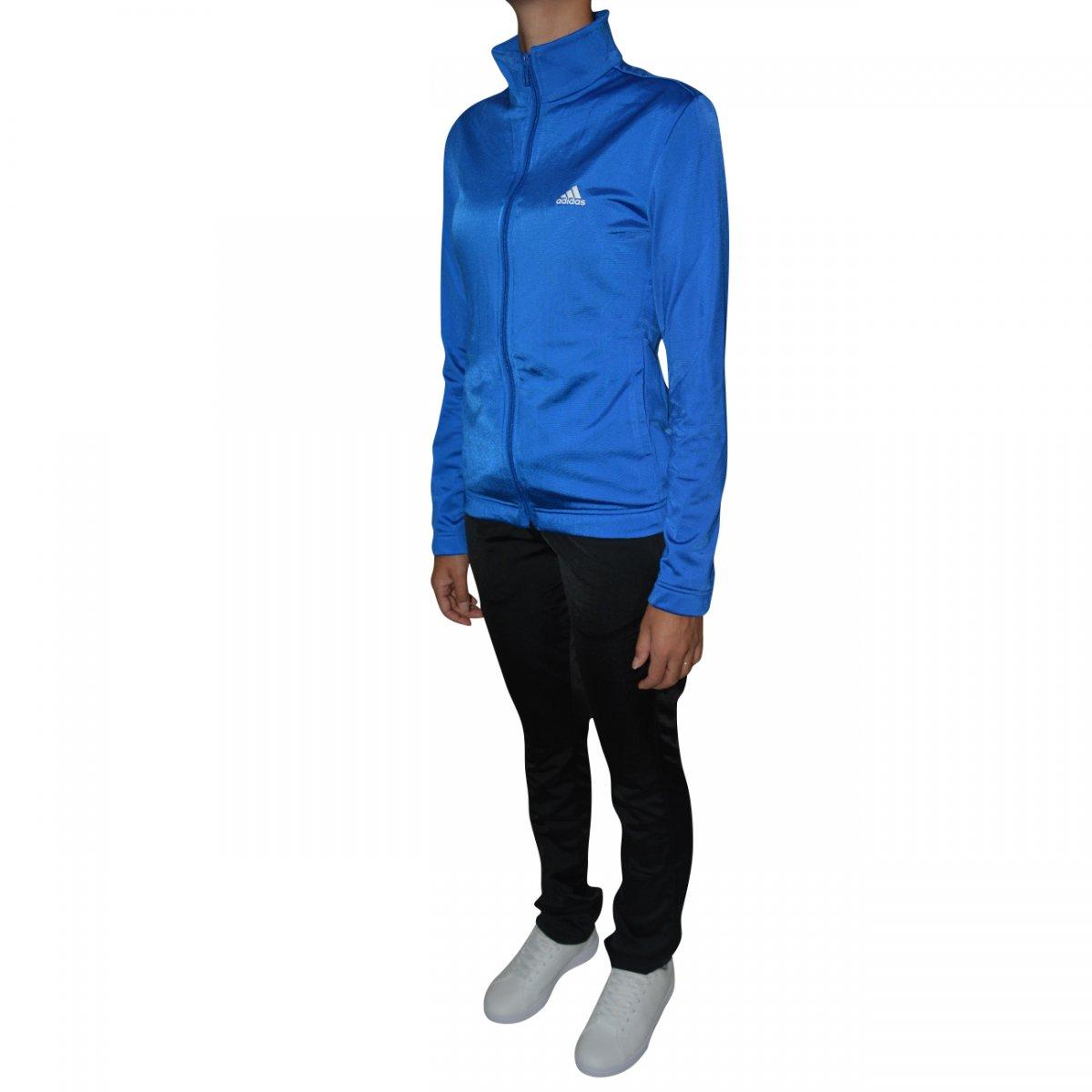 Agasalho Adidas ESS EP TS W Feminino CV4704 - Azul preto - Chuteira Nike f038d2af87f2b