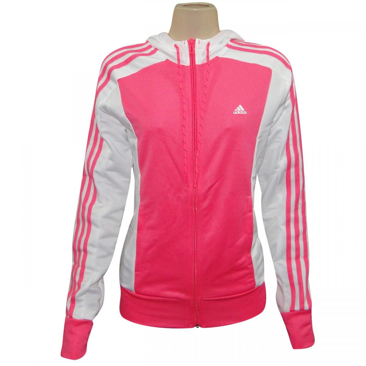 casaco adidas feminino rosa
