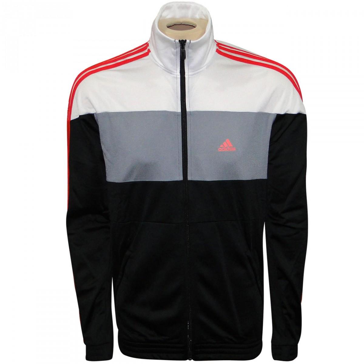 230ac1d4d23 Agasalho Adidas Ts Bts Kn F49190 - Preto Branco Chumbo Vermelho - Chuteira  Nike