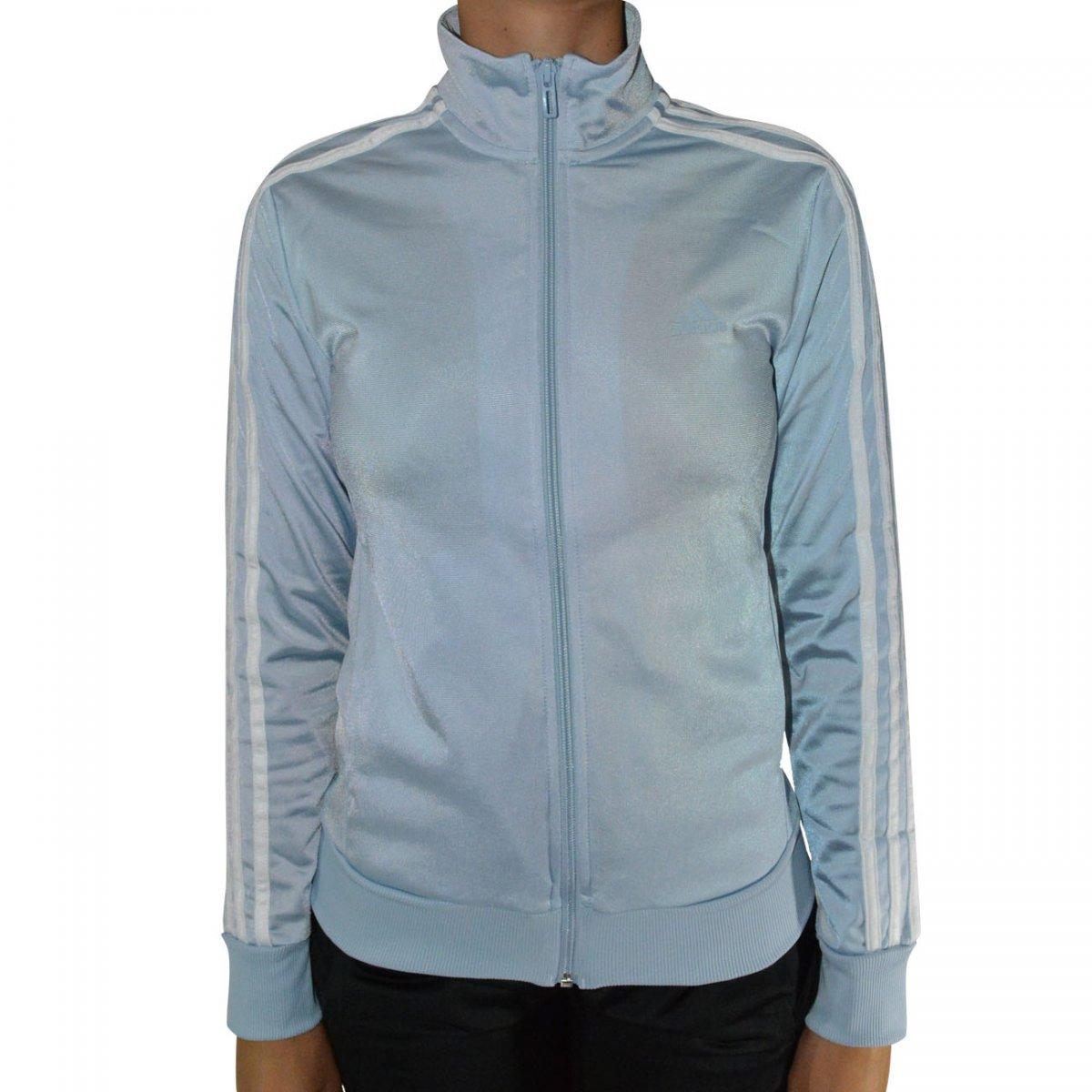 Agasalho Adidas W KN TS 1 Feminino BP8271 - Azul Bebe Preto - Chuteira  Nike 022f68302b3