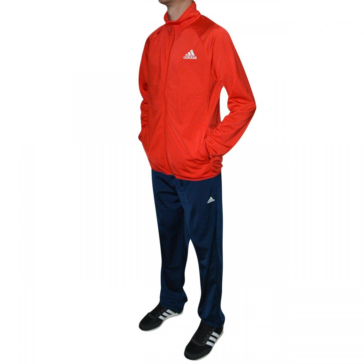 5960a2b59ed Agasalho Adidas YB TS Entry OH Juvenil CF7348 - Vermelho marinho - Chuteira  Nike